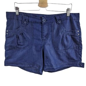 One 5 One Chambray Patch Pocket Style Shorts Sz 12
